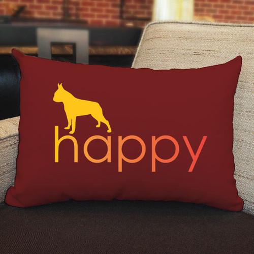 Righteous Hound - Happy Boston Terrier Pillow