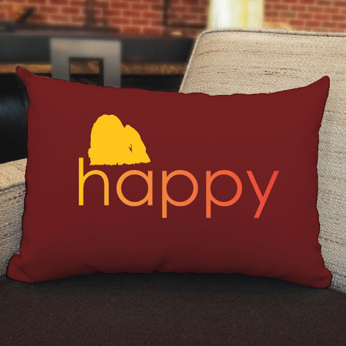 Righteous Hound - Happy Maltese Pillow
