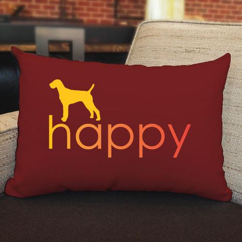Righteous Hound - Happy Vizsla Pillow
