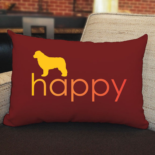 Righteous Hound - Happy Newfoundland Pillow