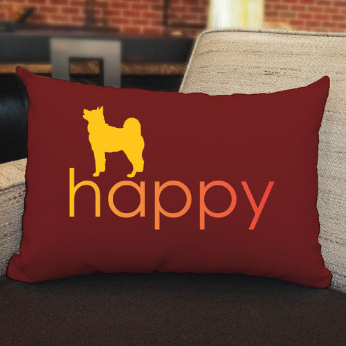 Righteous Hound - Happy Akita Pillow