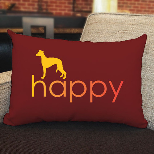 Righteous Hound - Happy Whippet Pillow