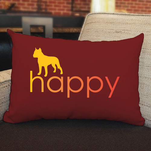 Righteous Hound - Happy Staffordshire Terrier Pillow