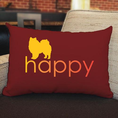 Righteous Hound - Happy American Eskimo Dog Pillow
