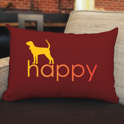 Righteous Hound - Happy Coonhound Pillow