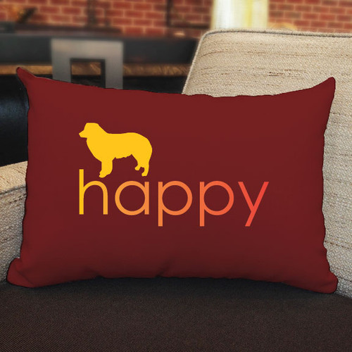 Righteous Hound - Happy Border Collie Pillow
