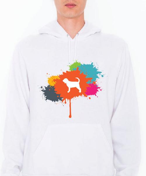 Unisex Splatter Bloodhound Hoodie