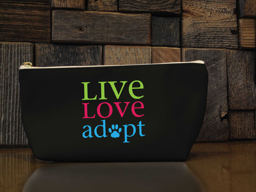 Live. Love. Adopt. Pouch