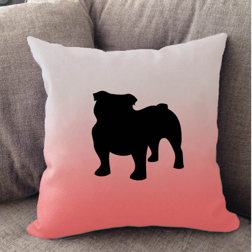 Righteous Hound - White Ombre Bulldog Pillow