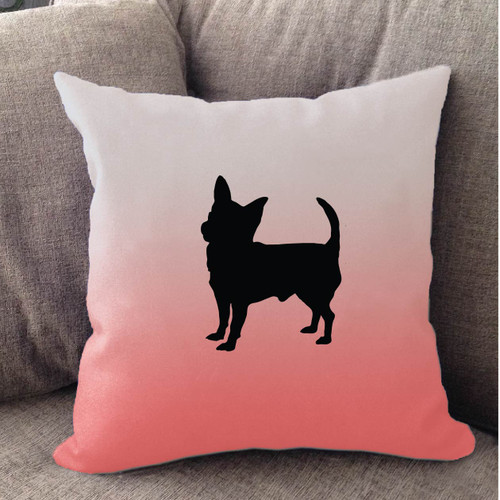 Righteous Hound - White Ombre Chihuahua Pillow