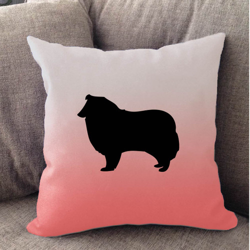 Righteous Hound - White Ombre Collie Pillow