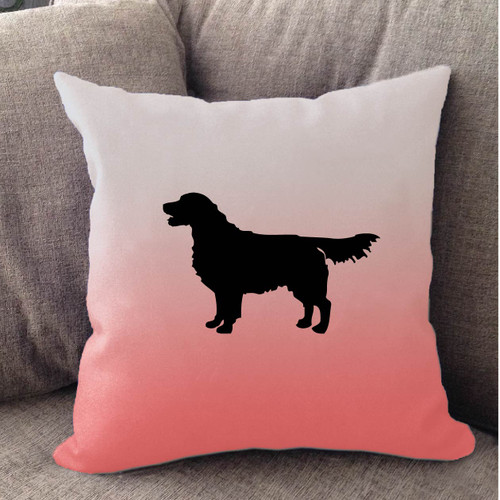 Righteous Hound - White Ombre Golden Retriever Pillow