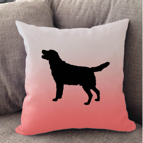Righteous Hound - White Ombre Lab Pillow