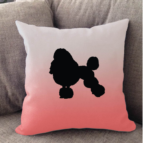 Righteous Hound - White Ombre Poodle Pillow