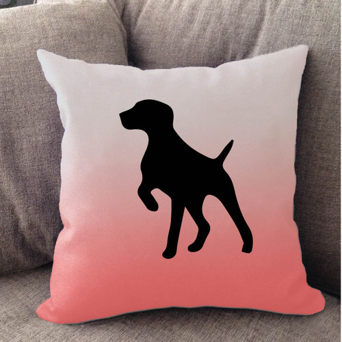 Righteous Hound - White Ombre German Shorthaired Pointer Pillow