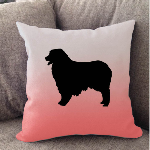 Righteous Hound - White Ombre Australian Shepherd Pillow