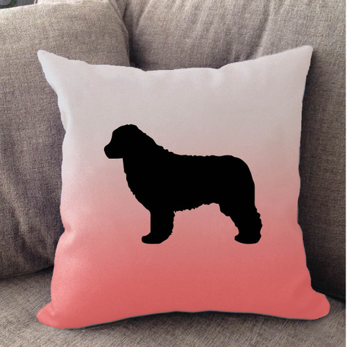 Righteous Hound - White Ombre Newfoundland Pillow