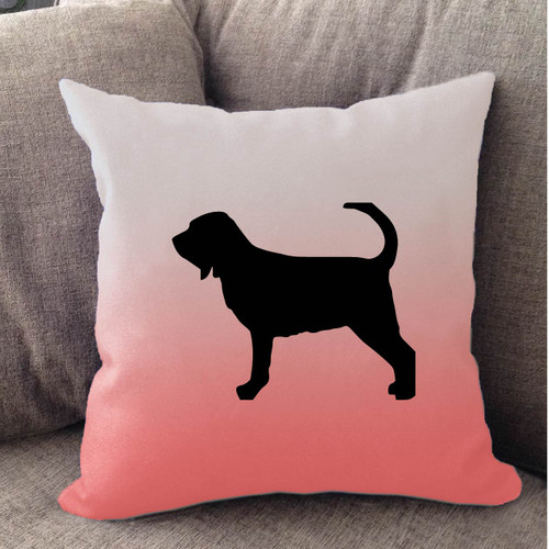 Righteous Hound - White Ombre Bloodhound Pillow