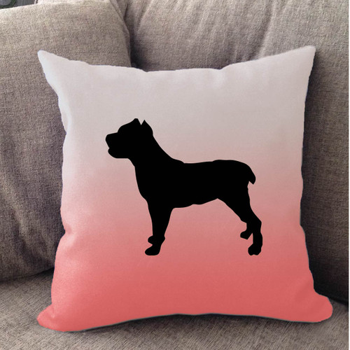 Righteous Hound - White Ombre Cane Corso Pillow