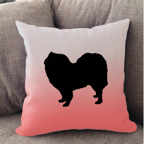 Righteous Hound - White Ombre Samoyed Pillow