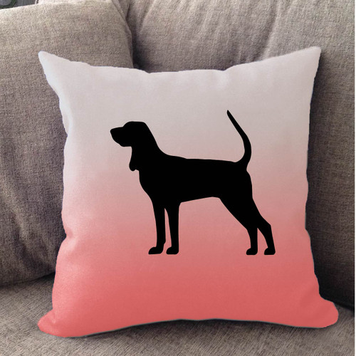 Righteous Hound - White Ombre Coonhound Pillow