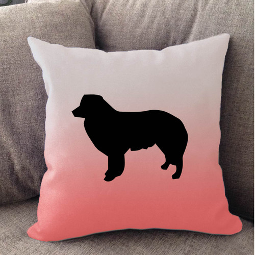 Righteous Hound - White Ombre Border Collie Pillow