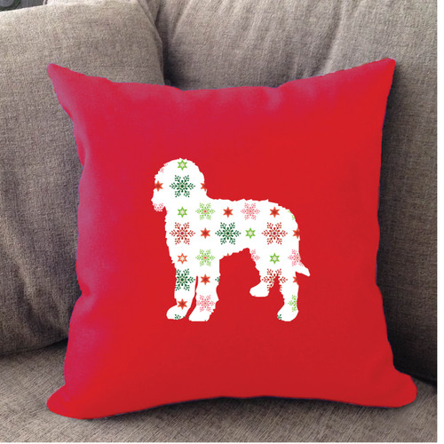 Goldendoodle Holiday Pillow