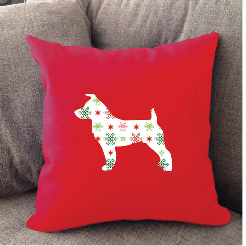 Jack Russell Holiday Pillow