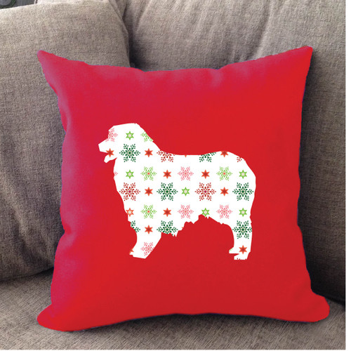 Righteous Hound - Red Holiday Australian Shepherd Pillow