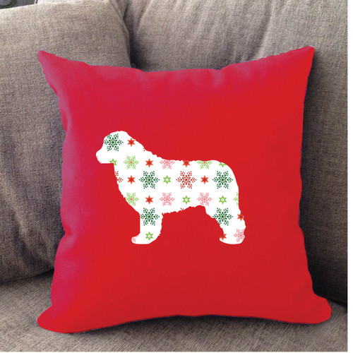 Righteous Hound - Red Holiday Newfoundland Pillow
