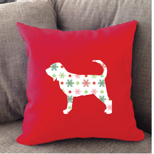 Righteous Hound - Red Holiday Bloodhound Pillow