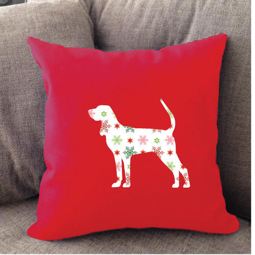 Righteous Hound - Red Holiday Coonhound Pillow