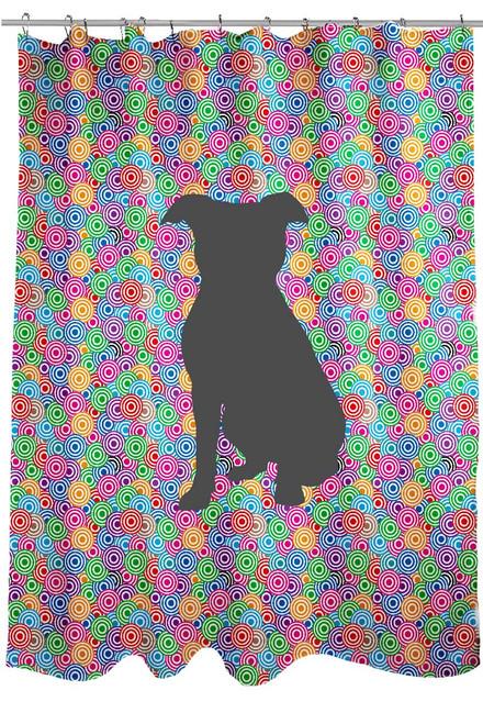 Righteous Hound - Circle Pitbull Shower Curtain