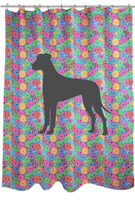 Righteous Hound - Circle Great Dane Shower Curtain