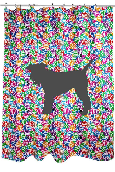 Righteous Hound - Circle Schnauzer Shower Curtain