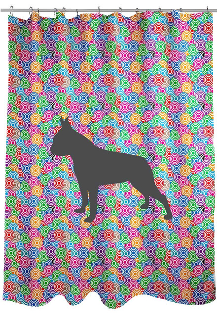 Righteous Hound - Circle Boston Terrier Shower Curtain