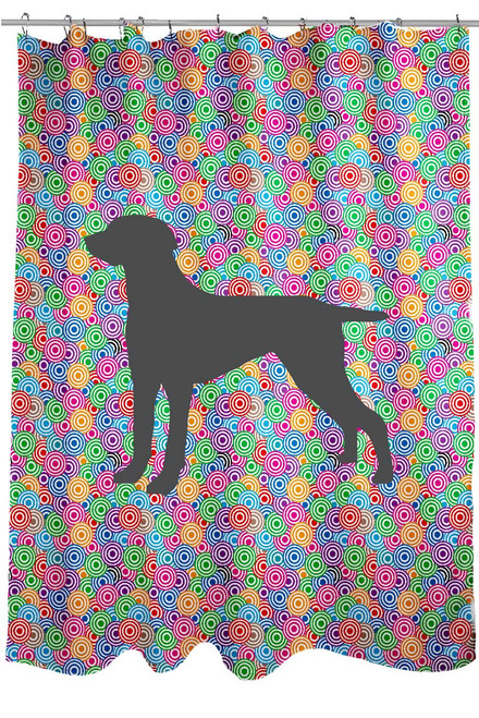 Righteous Hound - Circle Weimaraner Shower Curtain