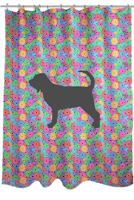 Righteous Hound - Circle Bloodhound Shower Curtain