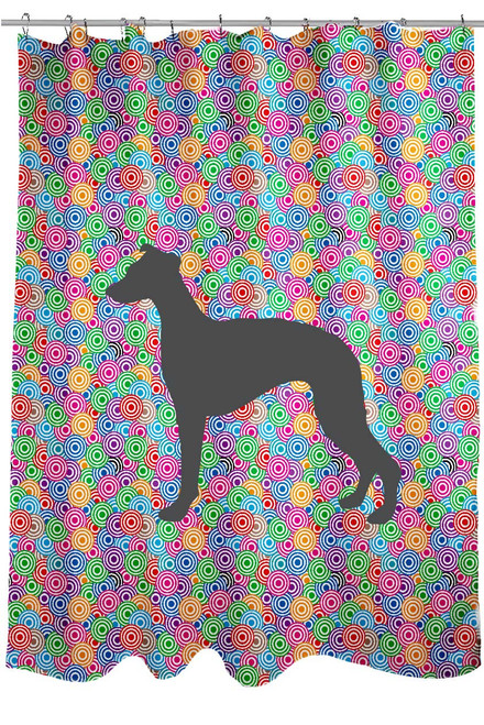 Righteous Hound - Circle Whippet Shower Curtain