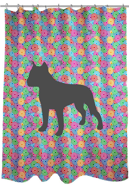 Righteous Hound - Circle Staffordshire Terrier Shower Curtain