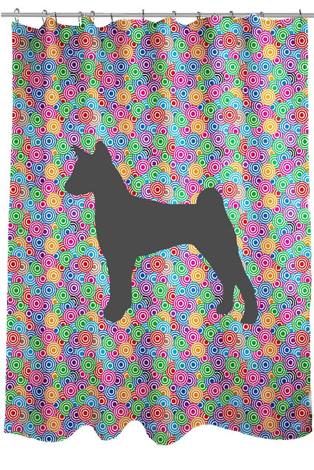 Righteous Hound - Circle Jack Russell Shower Curtain