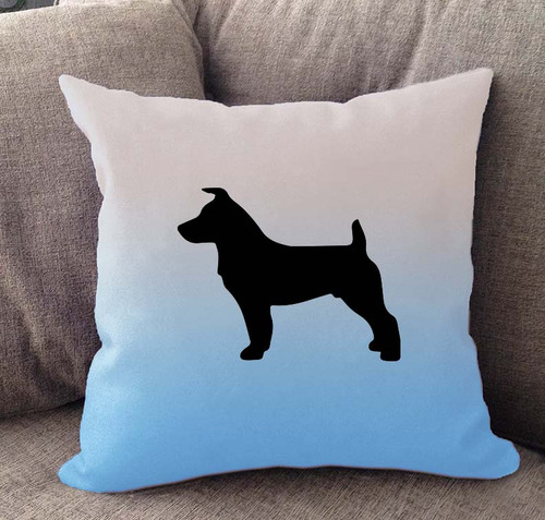Jack Russell Ombre Pillow