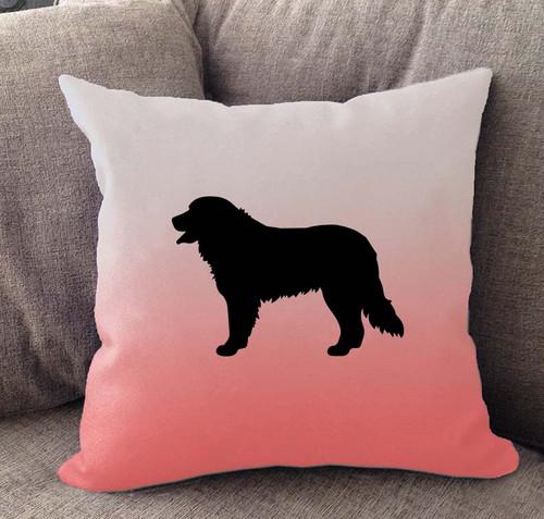 Bernese Mountain Dog Ombre Pillow