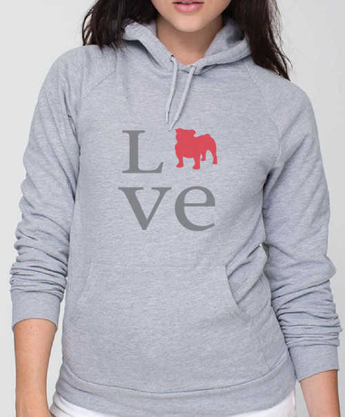 Righteous Hound - Unisex Love Bulldog Hoodie