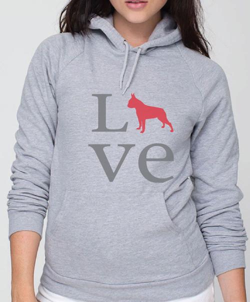 Righteous Hound - Unisex Love Boston Terrier Hoodie