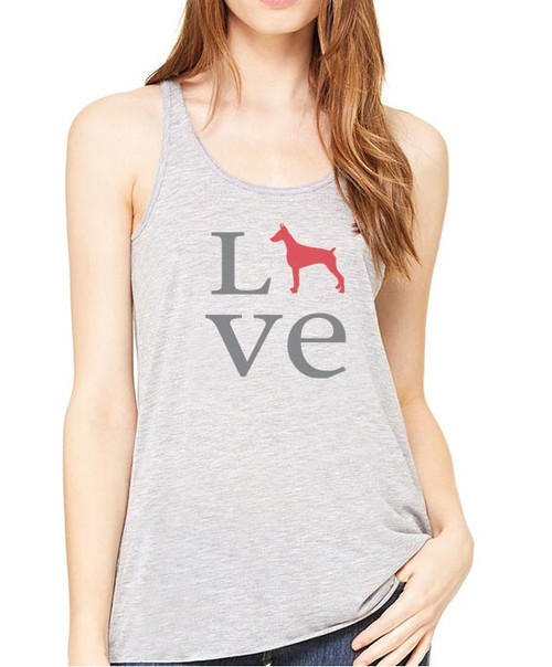 Righteous Hound - Flowy Love Doberman Tank