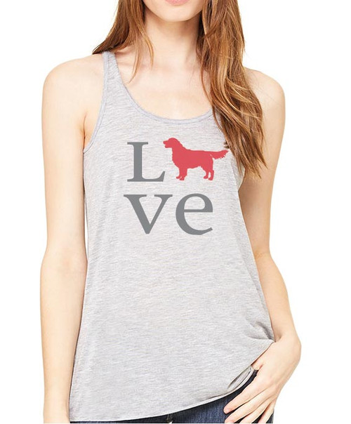Righteous Hound - Flowy Love Golden Retriever Tank