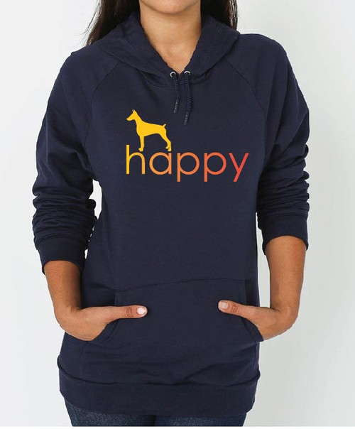 Righteous Hound - Unisex Happy Doberman Hoodie