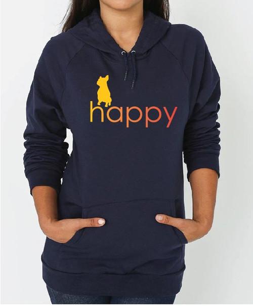 Righteous Hound - Unisex Happy French Bulldog Hoodie