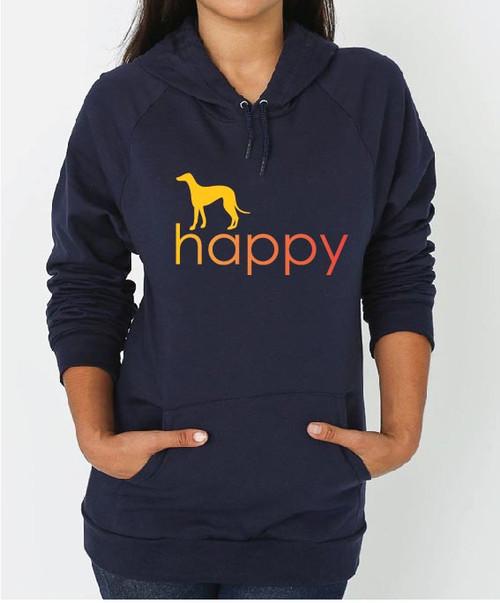 Righteous Hound - Unisex Happy Greyhound Hoodie